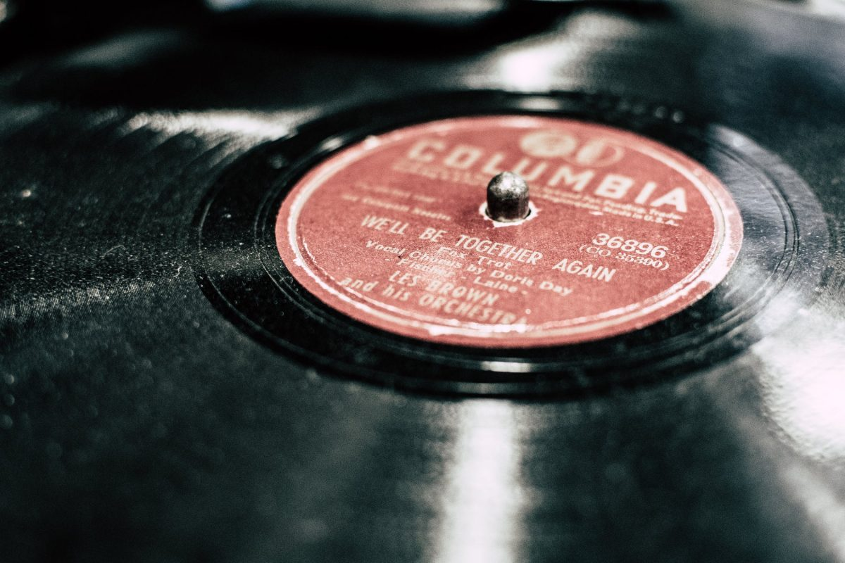 Dusty vinyl record